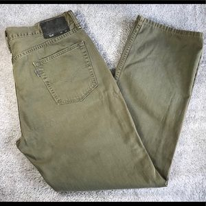 Levi's 514 Straight Fit  35x30 Green